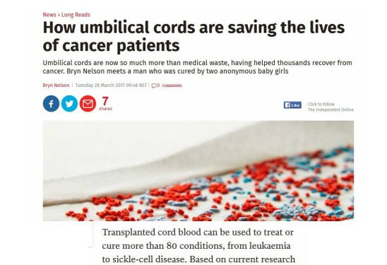 Curative Power of The Cord: #Cancer + 80 Disorders!  http://www. independent.co.uk/news/long_read s/cancer-treatment-umbilical-cord-blood-donation-mosaic-a7651891.html &nbsp; …   #SNRTG #BigData #RareDisease #biotech #science #ChildhoodCancer<br>http://pic.twitter.com/97P0lUhGo9