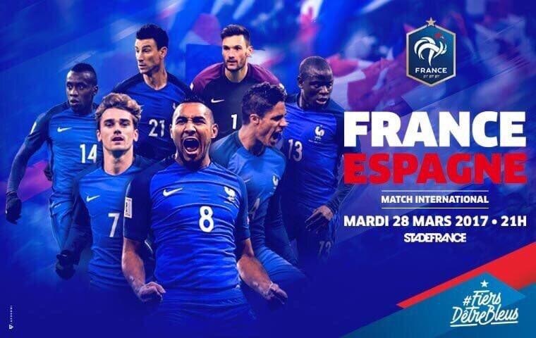 Rendez vous ce soir au Stade de France pour #FRAESP 🔥🙏🏼🇫🇷 ! #Fiersdetr...