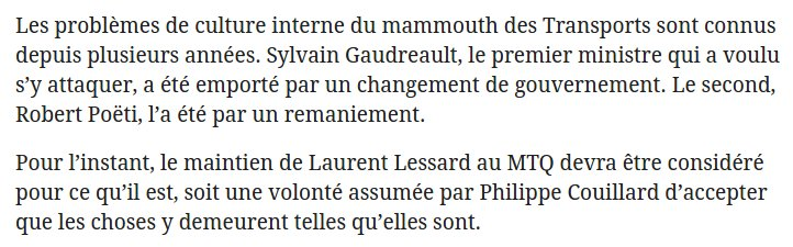 Le chroniqueur Claude Villeneuve au sujet du MTQ... et Philippe Couillard. #polqc <br>http://pic.twitter.com/GUwTCii3Vw