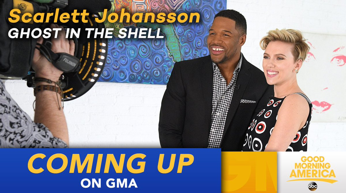 COMING UP ON @GMA: Scarlett Johansson talks @GhostInShell in a one-on-...