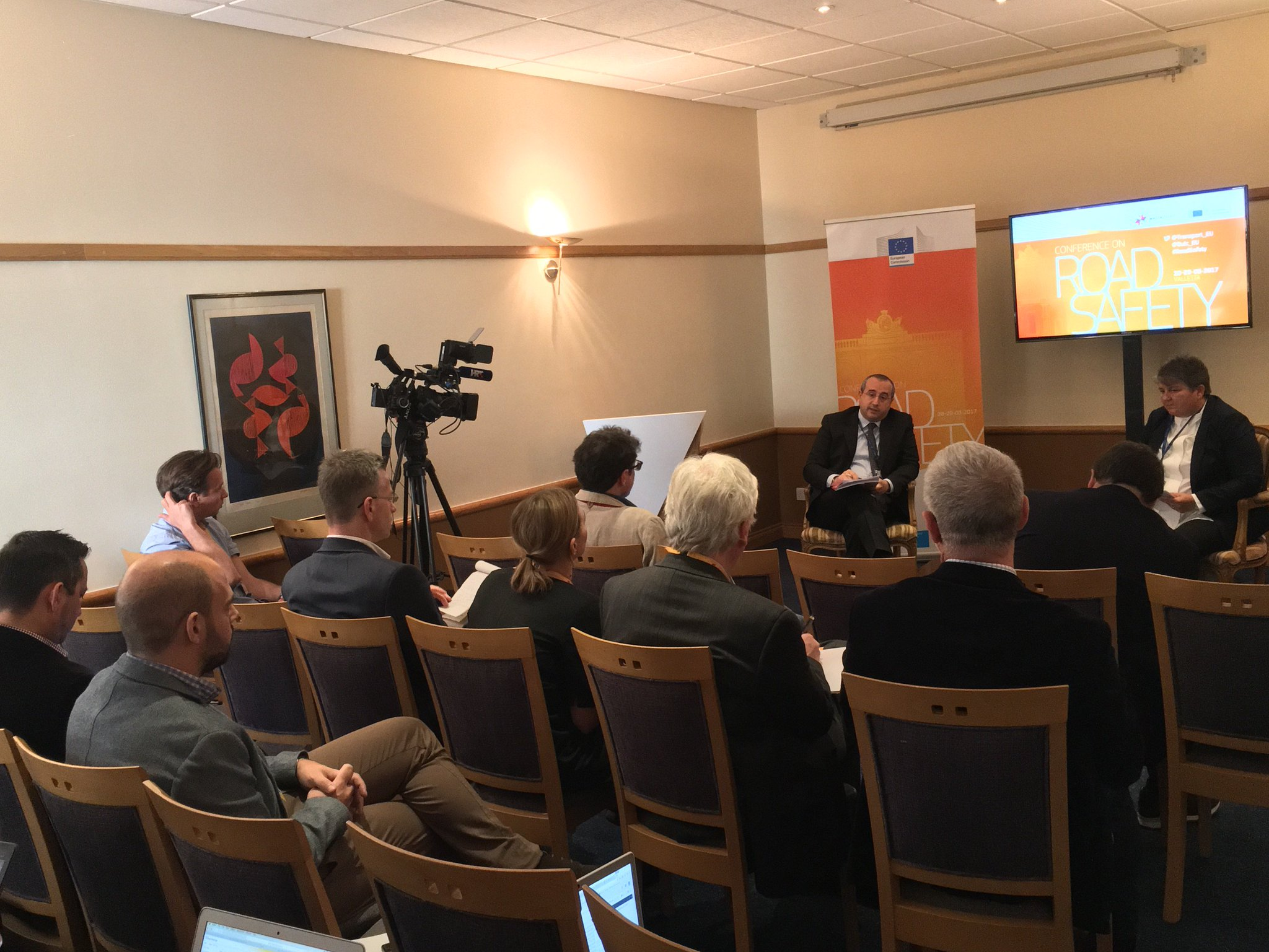 Press briefing by Antonio Avenoso #ETSC and @purdie409 of @TISPOLorg at Valletta #RoadSafety stakeholder conference. #eu2017mt https://t.co/nVikhf27pC