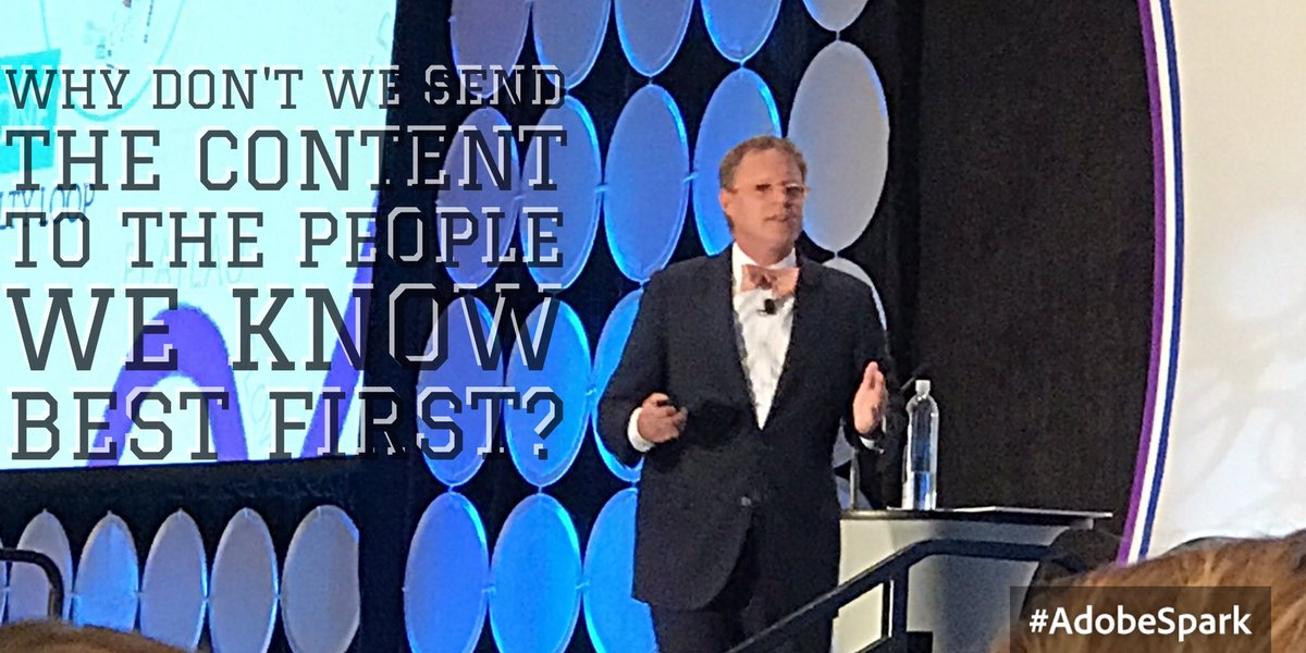 'Why don't we send the content to the people we know best first?' @Dre...
