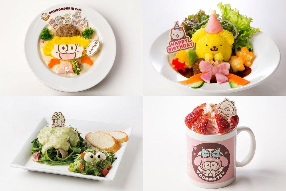 おそ松さん×サンリオのカフェが横浜に - 十四松が祝う、ポムポムプリンの誕生日限定メニューやグッズ -