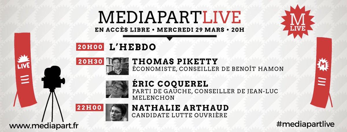 Demain à 20h, c'est #MediapartLive en direct ! Le programme   http:// bit.ly/2onHxy0  &nbsp;  <br>http://pic.twitter.com/tgPw2iPKvG