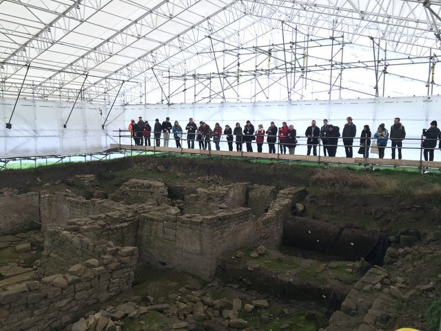 Lucky #TRACDurham delegates getting a behind-the-scenes look around the vicus bath house @RomanBinchester https://t.co/iJqnVdyKYs