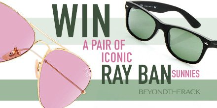 #CONTEST continues! ReTWEET & FOLLOW for a chance to #WIN an iconic pair of #RAYBAN sunnies!!! #BeyondTheRack https://t.co/y0NQJnSzks