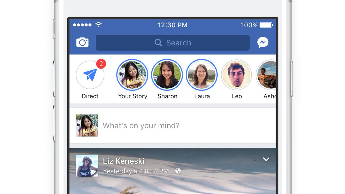 Facebook launches Stories in the main Facebook app