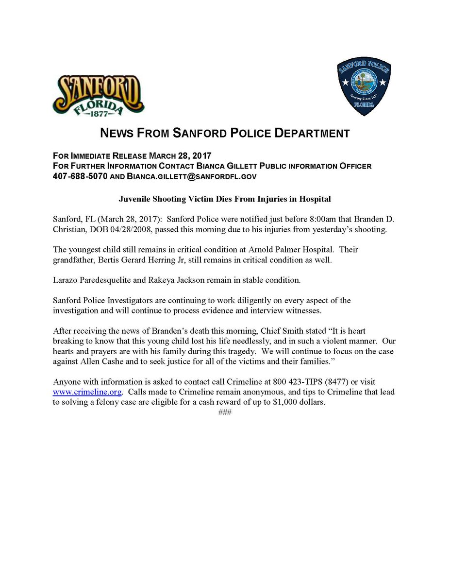 sanford police sanfordpolice twitter 1 reply 18 retweets 4 likes