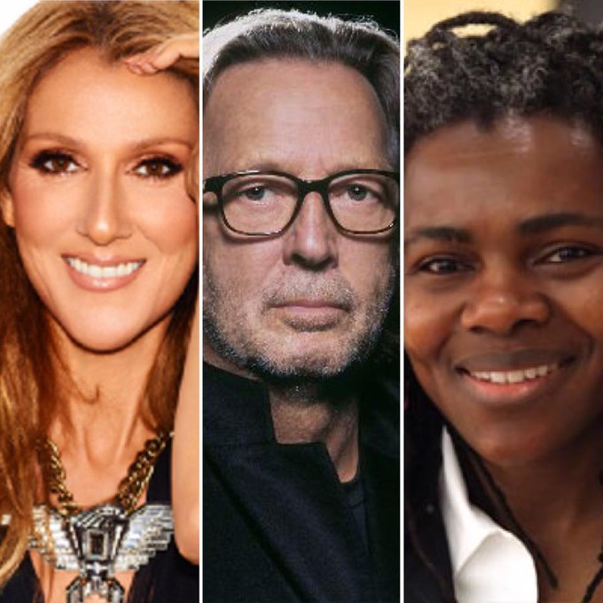 From all of your fans here at Hard Rock Cafe Dubai, Happy birthday Céline Dion , Eric Clapton and Tracy Chapman !