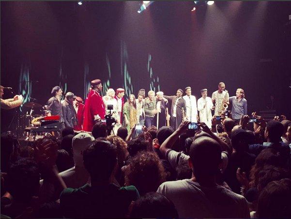 Hier soir, Mehdi Nassouli, Hindi Zahra, Titi Robin , Tony Allen  et Karim Ziad  ont mis le feu  à #Paris au #Bataclan. #music #Gnaoua<br>http://pic.twitter.com/D4HVtJKt2E