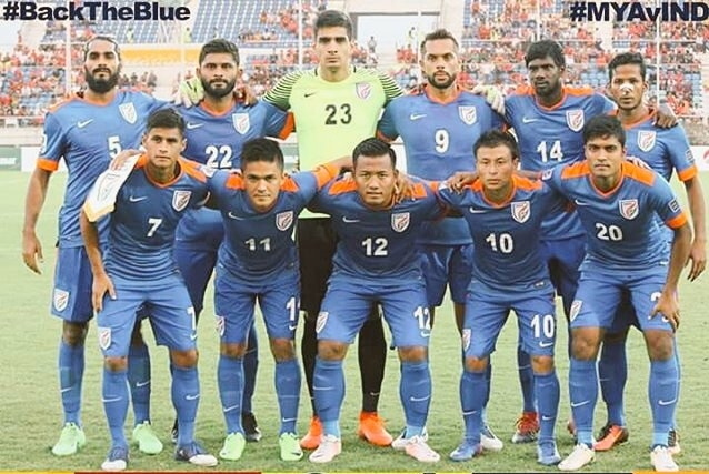 Congratulations to @IndianFootball Team on a superb 1-0 victory over Myanmar!!  More way to go boys #MYAvIND  #BackTheBlue <br>http://pic.twitter.com/AipbFeSTm5