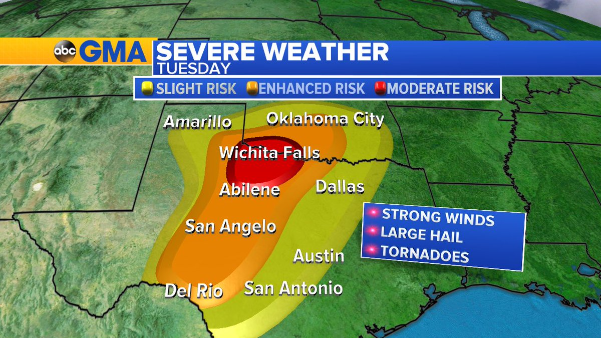 UPDATE: severe storms risk area for this afternoon and evening include...