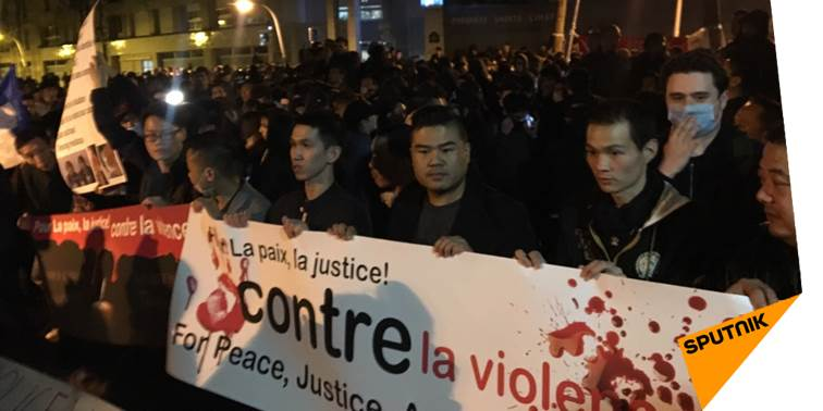 #EnDirect Nouveau rassemblement de la communauté chinoise à #Paris.  http:// sptnkne.ws/dVFb  &nbsp;   #shaoyoliu<br>http://pic.twitter.com/QsPbsbfYHV
