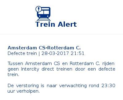 #treinleven #Amsterdam CS-#Rotterdam C.. Reden: defecte trein<br>http://pic.twitter.com/JEp6hbllYu