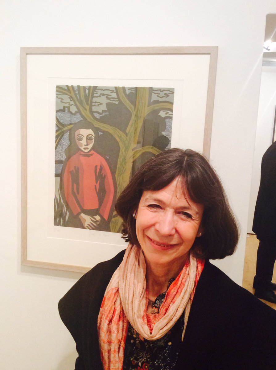 Thank you Rachel Moore the 'Girl in Red' and daughter of Klaus Meyer for visiting the PV of Refugees: The Lives of Others #family #refugees