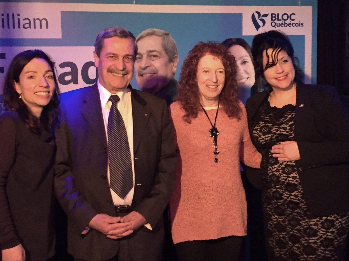 Belle soirée hier avec notre candidat du @blocquebecois dans Saint-Laurent William Fayad, en compagnie de @gillmarilene et @m_pauze! #polcan <br>http://pic.twitter.com/NVkY9NFpL7