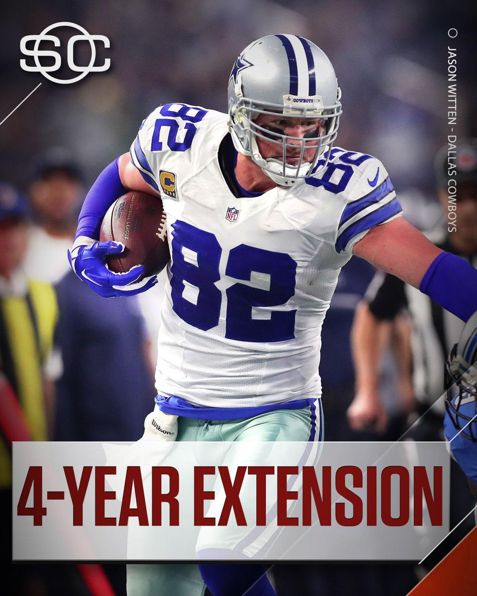 This Just In: Cowboys tight end Jason Witten has signed a four-year ex...