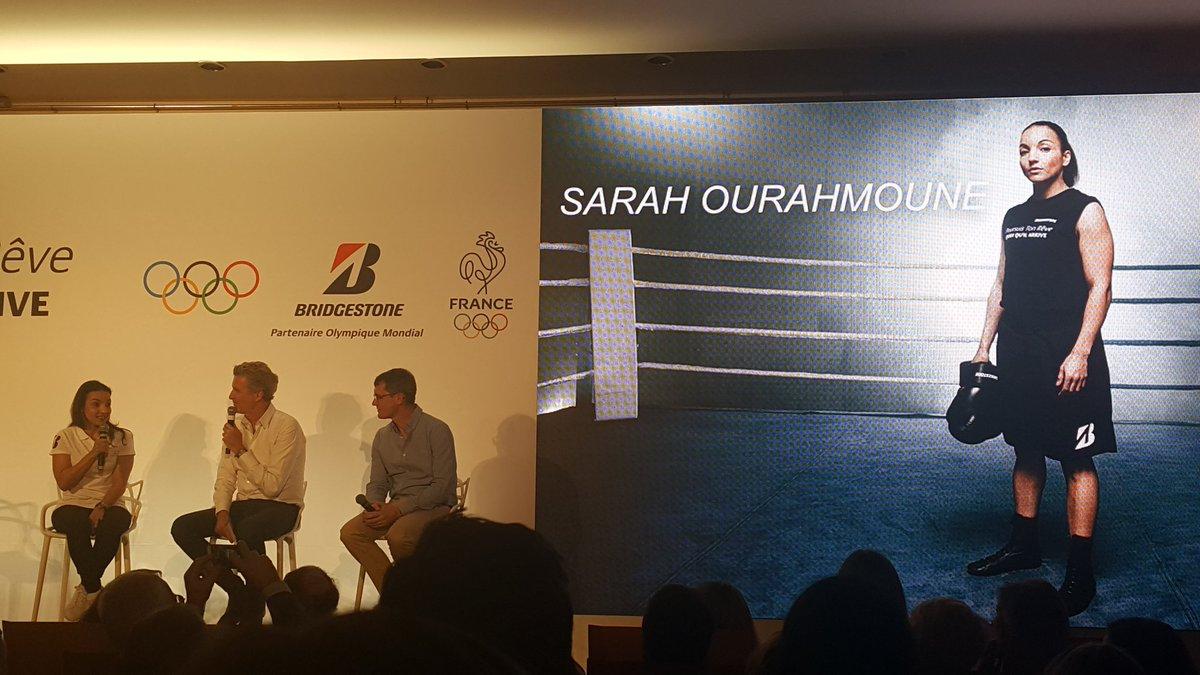 Maman et médaille d or à Rio. &quot;Un brin de folie et l envie de prouver que je pouvais le faire&quot; @SarahOurahmoune #Bridgestone #motivation #JO<br>http://pic.twitter.com/wVtzf4iMaf