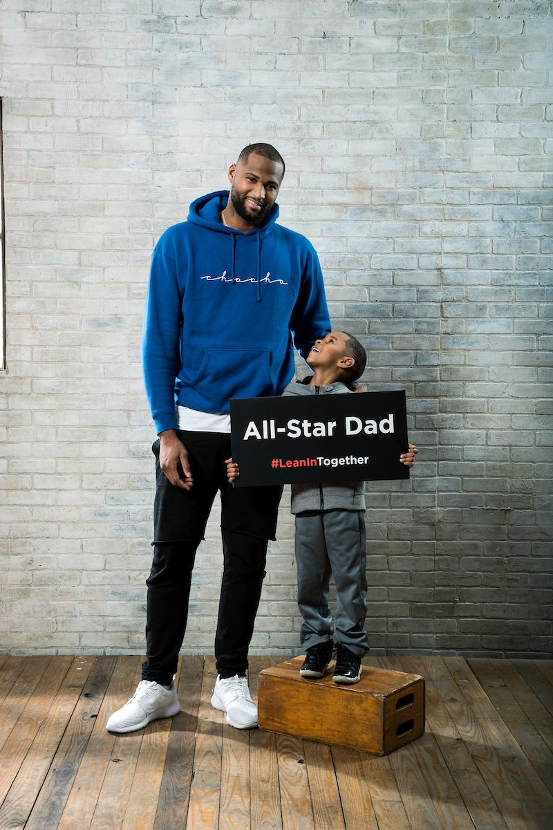.@boogiecousins leans in to be an All-Star Dad. #LeanInTogether https:...