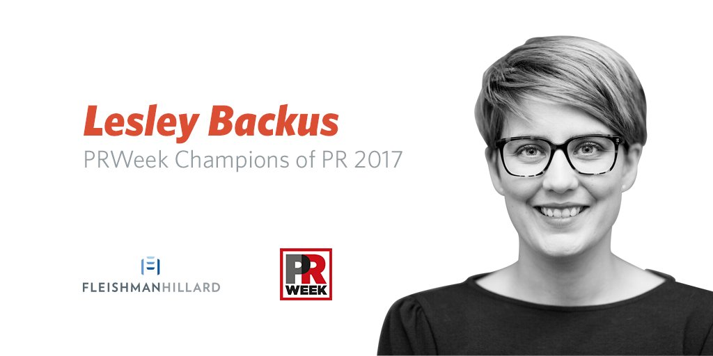 Congrats to our own Lesley Backus, one of this year's @PRWeekUS Champions of PR! https://t.co/h0WmFMOevU https://t.co/7vSey5k8VR