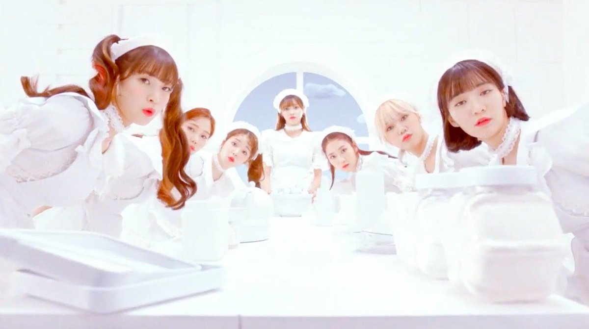 "WATCH: #OhMyGirl Members Are Cute Chefs In The Clouds In ""Coloring Boo..."