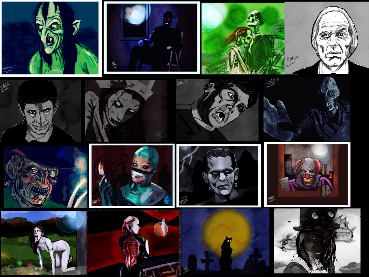 The horror collection! #art #drawing #horror #digitalart #phantasm #werewolf #freddykrueger <br>http://pic.twitter.com/On3tlTVqZL