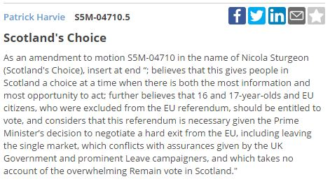 Patrick Harvie\'s amendment is passed, by 69 votes to 59, and so is added to the end of Nicola Sturgeon\'s motion.