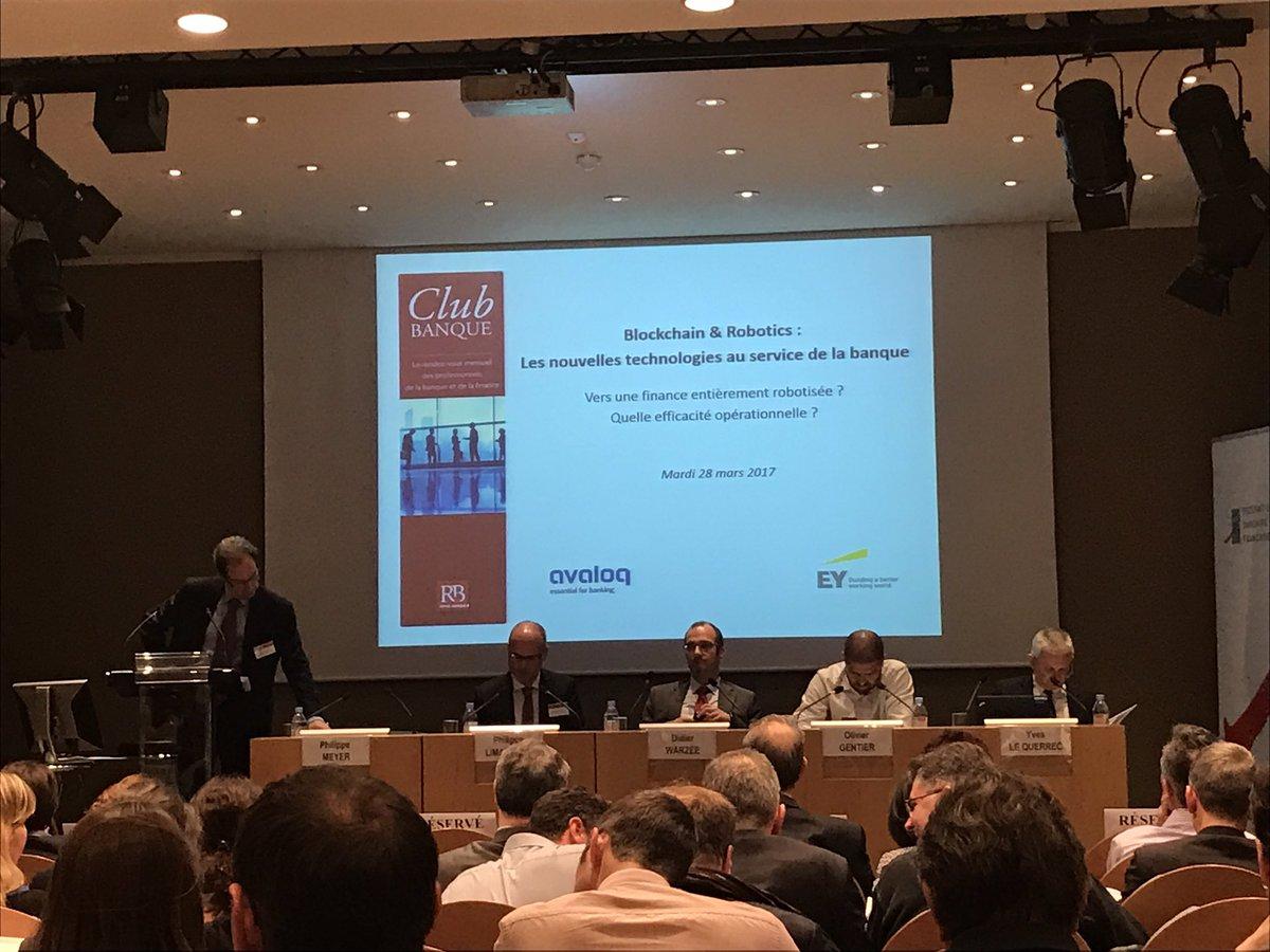 Conférence #Blockchain &amp; #Robotics : les nouvelles techno au service de la #banque @RevueBanque<br>http://pic.twitter.com/lGjomHDcDC