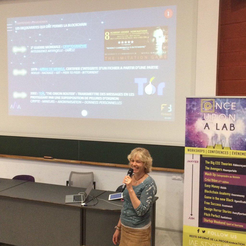On entre dans le vif du sujet : comprendre la #blockchain ! #oual @IAEStartupLab @IAE_Montpellier<br>http://pic.twitter.com/KaUzBvcqvs