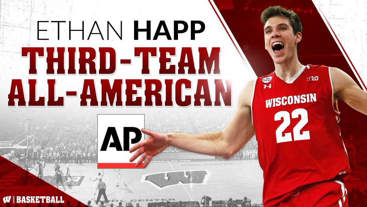 Congrats to @EthanHapp22 for being named 3rd team All-American by AP!...