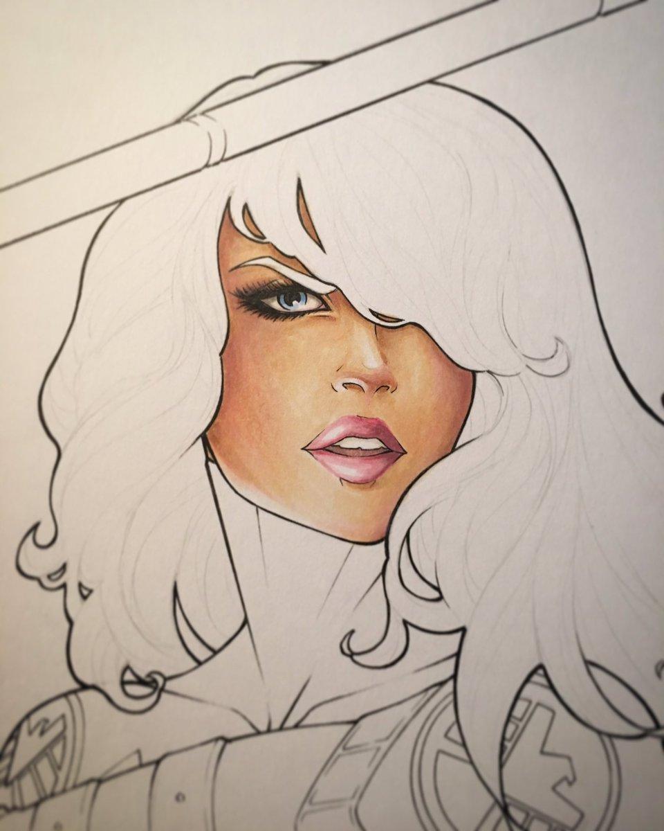 Colors #WIP! #inks #Mockingbird #Shield #Marvel #MarvelComics #barbaramorse #bobbimorse #commission #copics #Copicmarkers<br>http://pic.twitter.com/SQamjOptjp