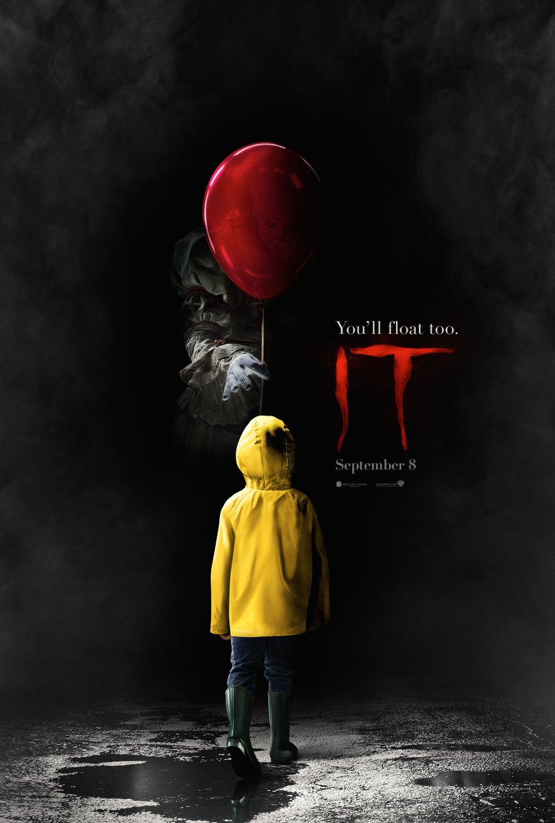 Check out this creepy first poster for #ITMovie! 😱🤡🎈 Don't miss the tr...