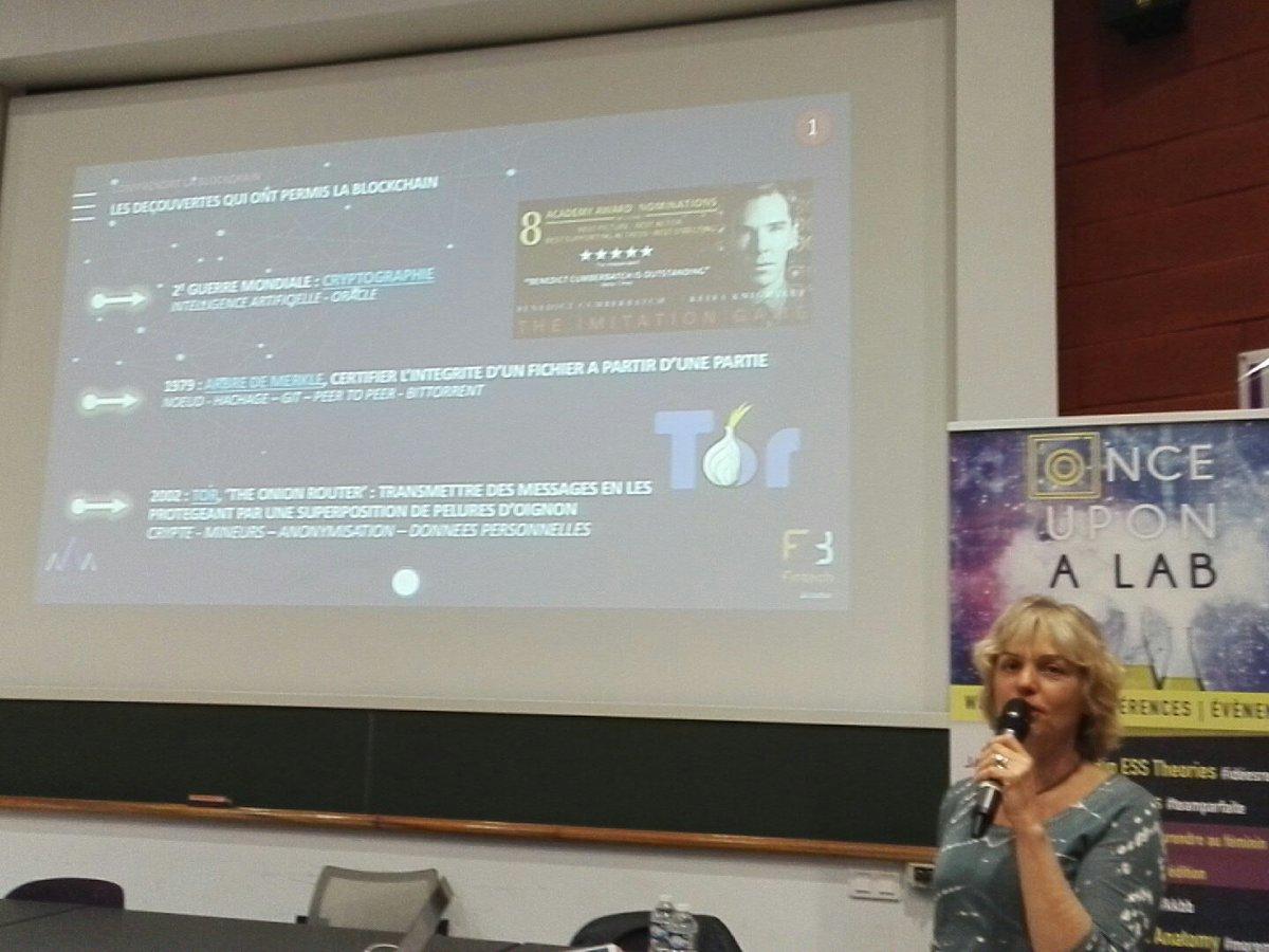 3 grandes découvertes ont permis la #blockchain : Cryptographie, Arbre de Merkle et Tor @BlockchainBoos @IAE_Montpellier #fintech<br>http://pic.twitter.com/RxKLKSvek6
