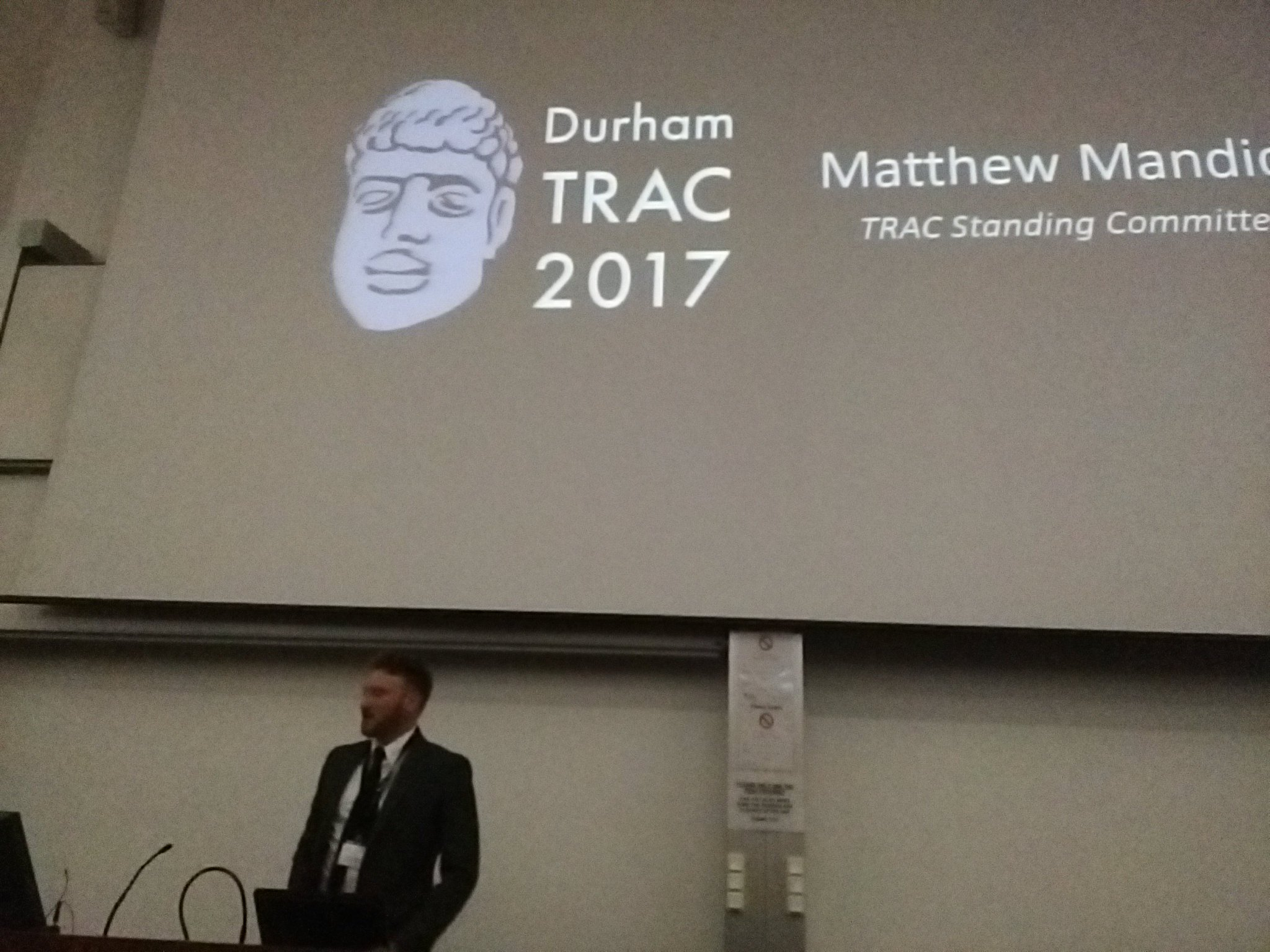 Next up, Chair of TRAC Standing Committee Matthew Mandich (Leicester) updates #TRACDurham delegates on developments incl new publications https://t.co/w0iD9NbUgD