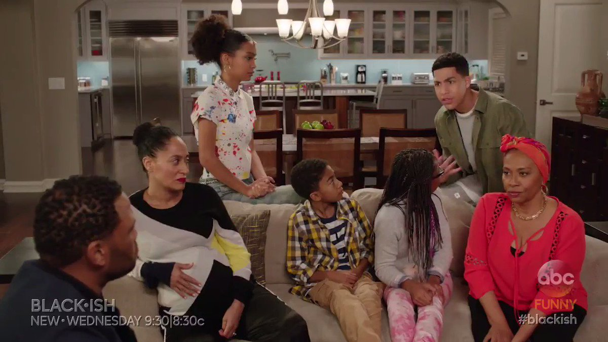 Who knew Junior withholding feelings could hurt so bad? 😂 #blackish ht...