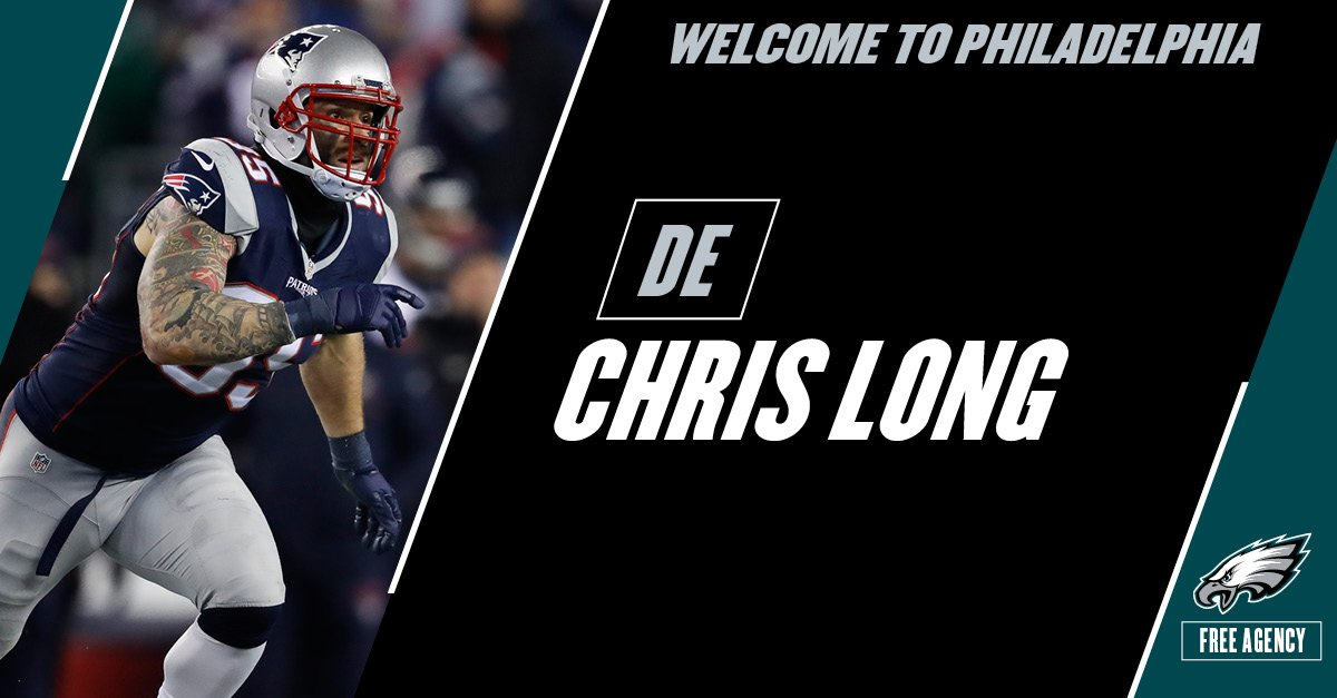 Roster Move: #Eagles agree to terms with DE Chris Long on a two-year d...