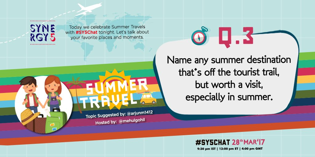 3: Any summer destination that's off the tourist trail BUT worth a visit specially in the summer? Reply with A3 &amp; #SY5Chat. <br>http://pic.twitter.com/crPsdjMVKC