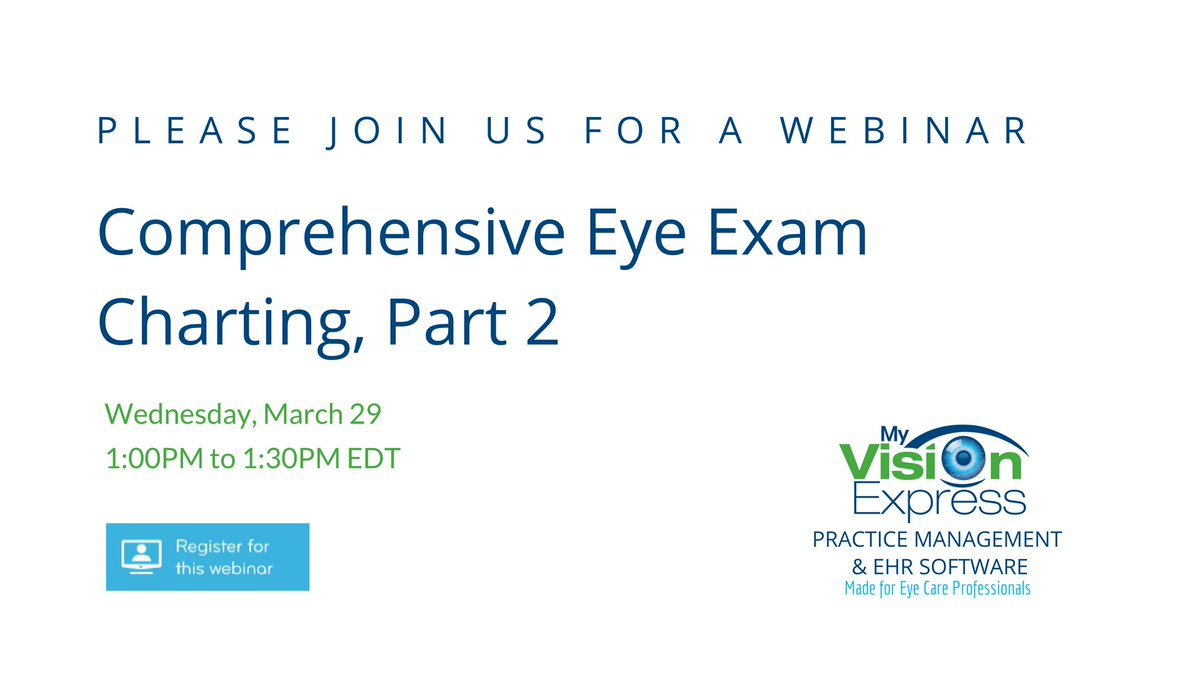 My Vision Express On Twitter Our Ehr Lets You Chart Eye Exams