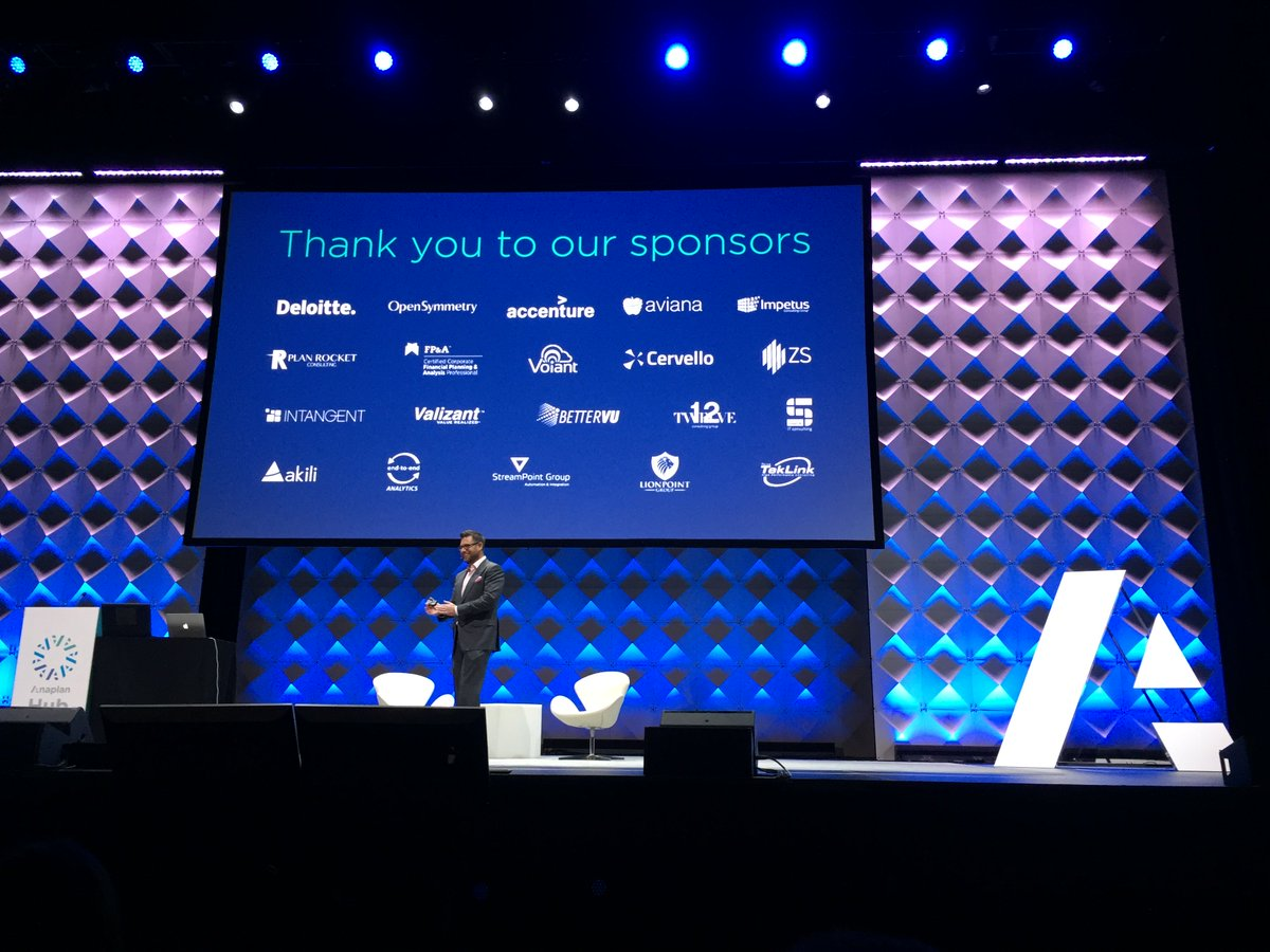 #AnaplanHub17 wouldn't be possible without the support of our sponsors...