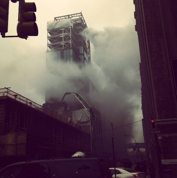 #BREAKING: Some tenants evacuated after fire breaks out at Chelsea Mar...