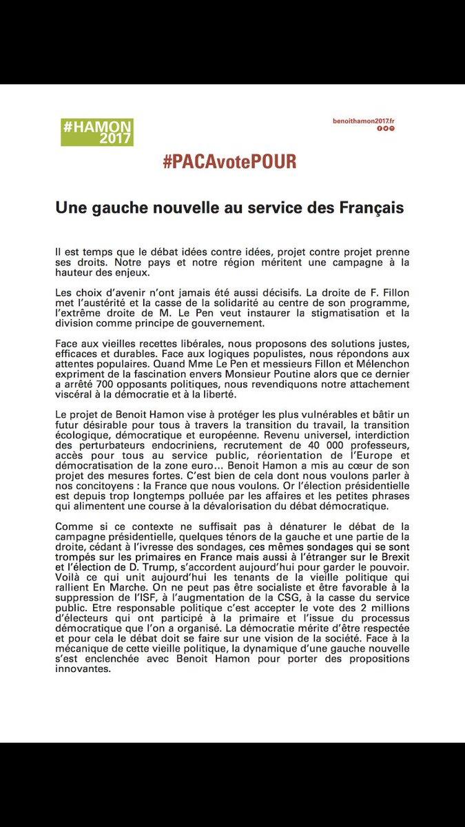 #PACAVotePour #JeVotePour la création de 1500 maisons de santé. #Hamon2017 #FuturDésirable
