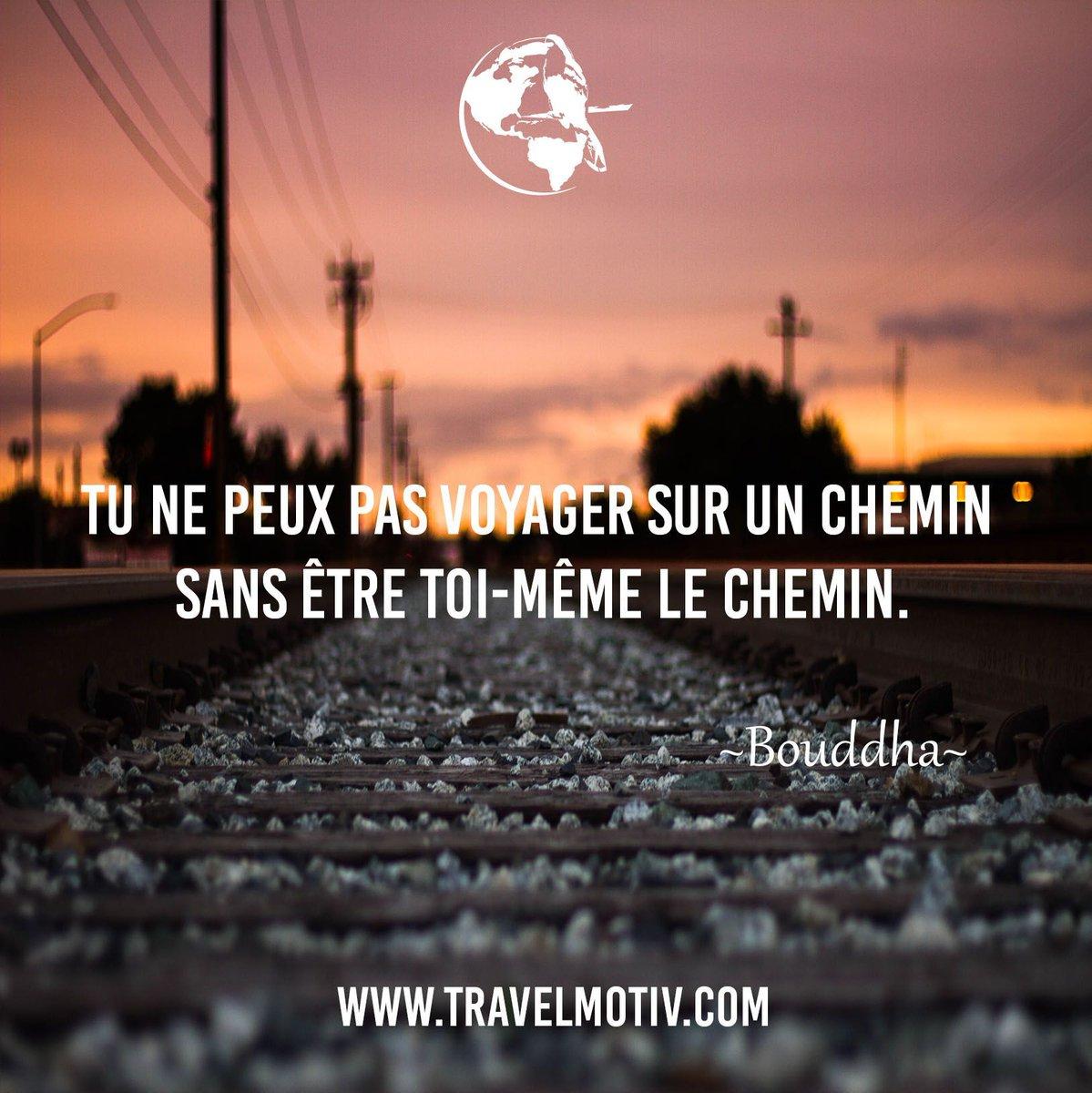 Tu ne peux pas voyager sur un chemin sans être toi-même le chemin.   http://www. travelmotiv.com  &nbsp;   #voyage #motivation <br>http://pic.twitter.com/PUFiyTUKU0