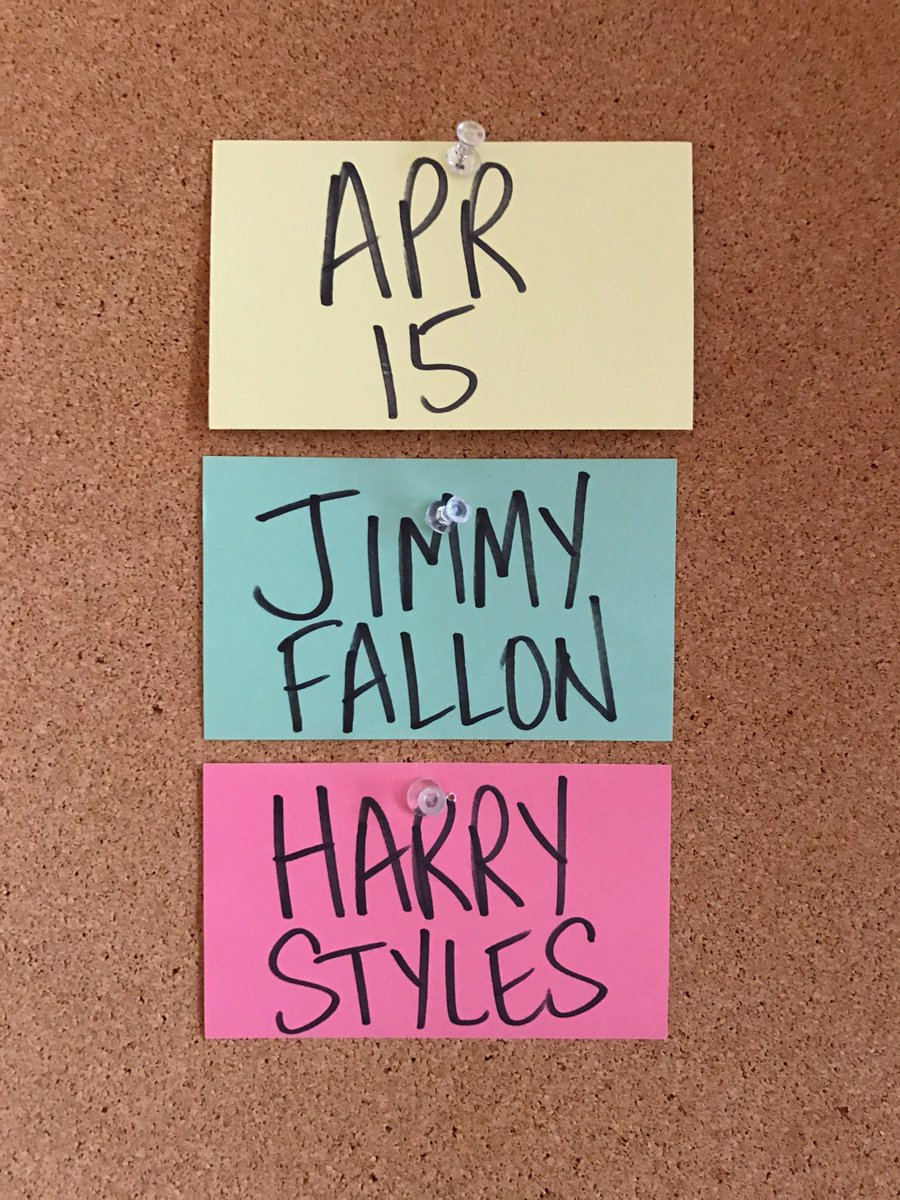 Excited to announce @jimmyfallon and @Harry_Styles will be in Studio 8...