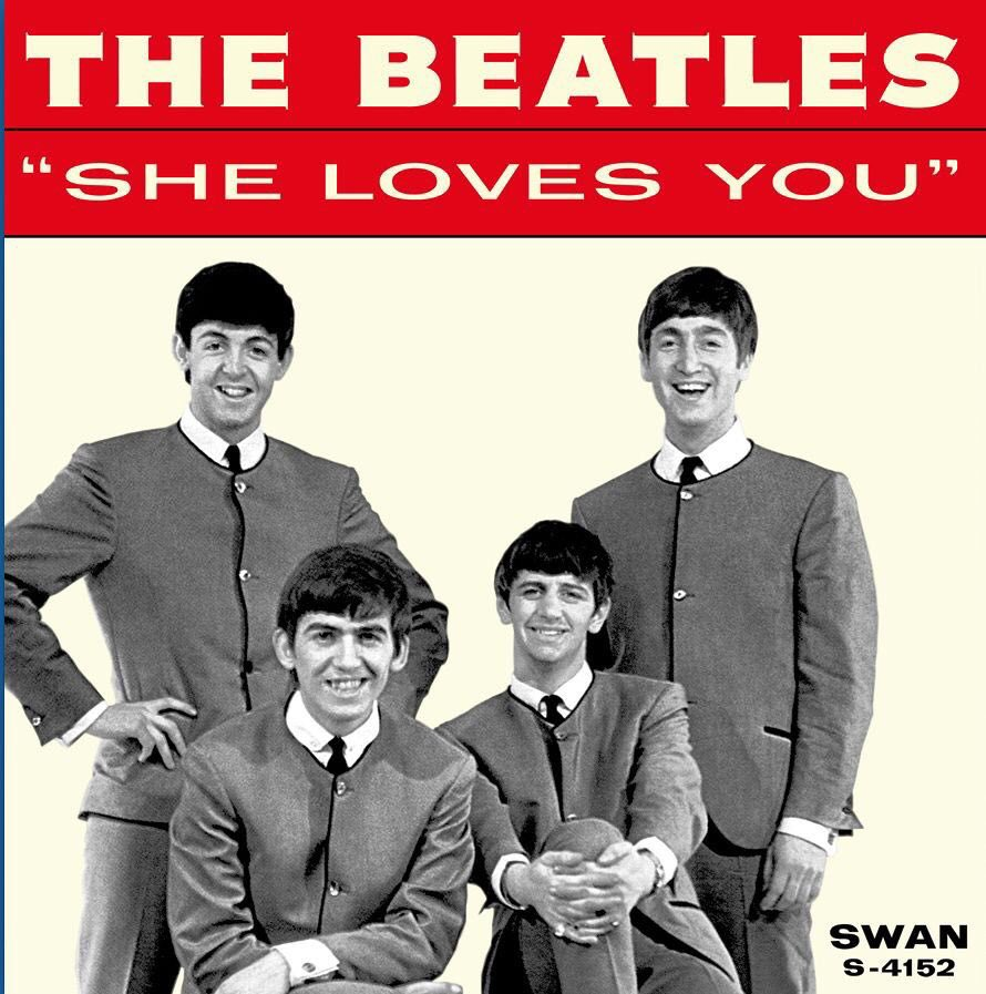 #OnThisDay, 1964, #TheBeatles - Single: 'SHE LOVES YOU' #1 in the U.S....