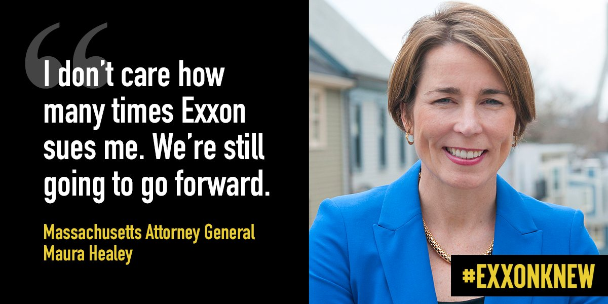 Overheard (to wild applause) at a town hall this month. Thank you, @MassAGO. #ExxonKnew <br>http://pic.twitter.com/qAQsQP0x2a
