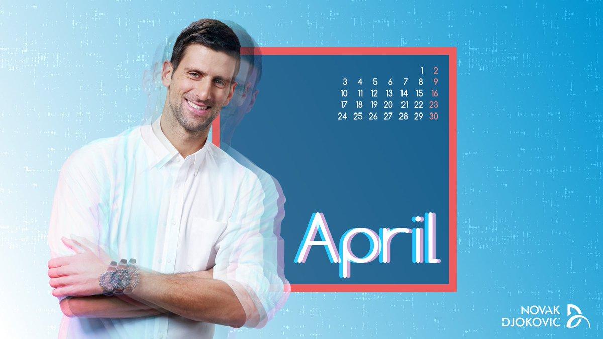 .@DjokerNole #April2017 #Calendar  source: https://t.co/ESkVBiz3xV htt...