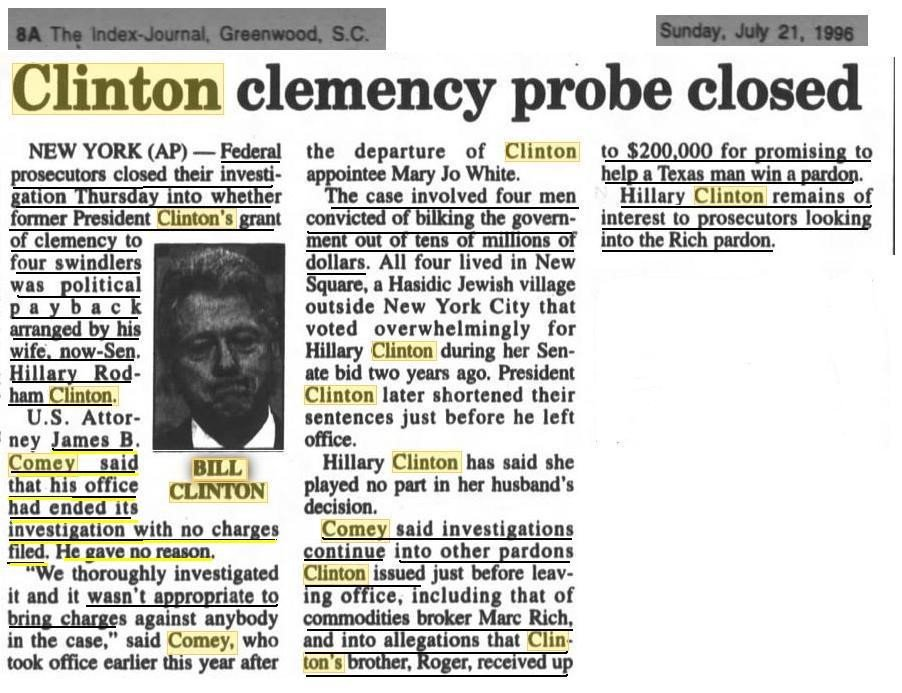 #FBIDirectorComey #HillaryClinton #BillClinton ALL STUNK LIKE POND SCUM IN THE LATE 90&#39;S. THEY ALL SMELL EVEN WORSE TODAY! #DrainTheSwamp<br>http://pic.twitter.com/OnCyHnpEKH