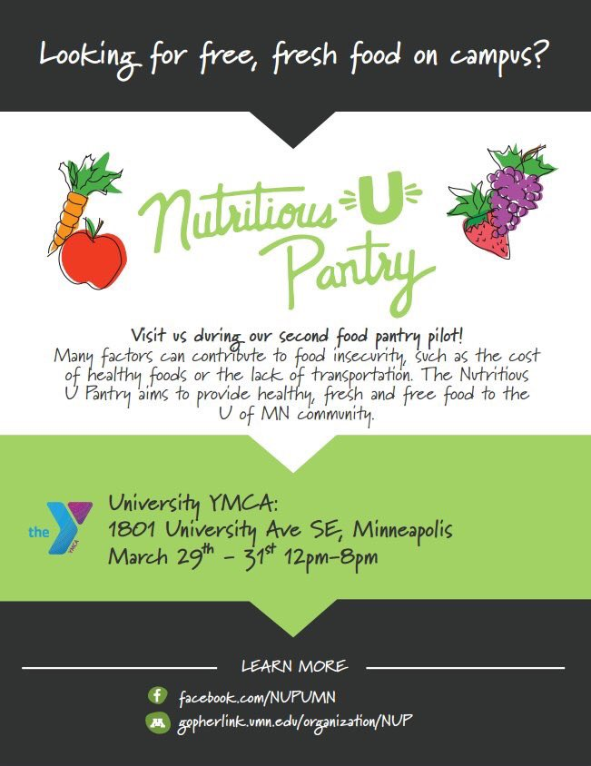 Umn Sustainability On Twitter The Nutritious U Food Pantry Pilot