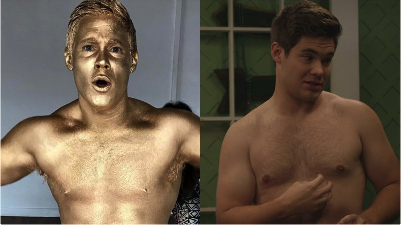😍 'Workaholics' Star Adam Devine Shines In Gold Body Paint https://t.c...