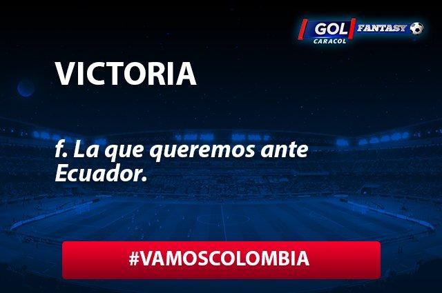 ¡Vamos por los tres puntos! Ecuador vs. Colombia por el @GolCaracol...